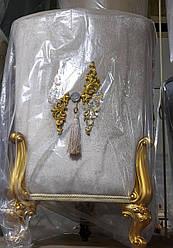 Корзины для белья обшитые бархатом с золотыми ножками
