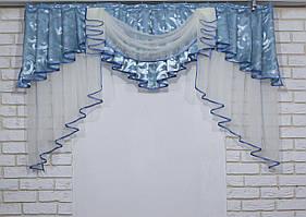 Ламбрекен из плотной ткани на карниз 1,5м. Код 137л294