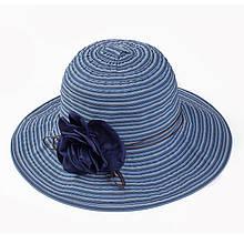 Жіноча пляжна капелюх з об'ємною трояндою