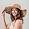 Шляпка широкополая Корделия вязаная темно-песочный цвет, фото 2