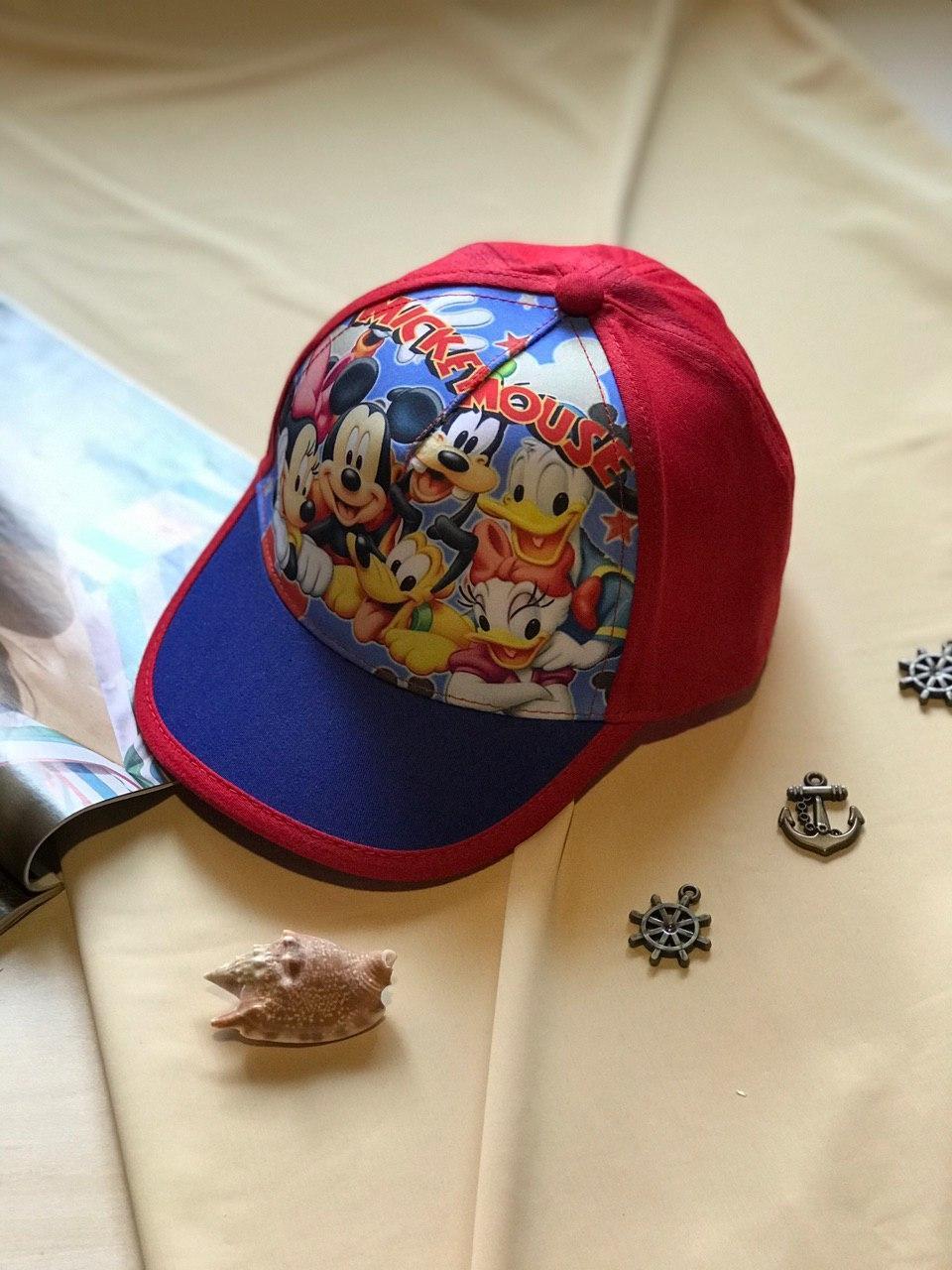 Летняя кепка для мальчика Микки красный цвет