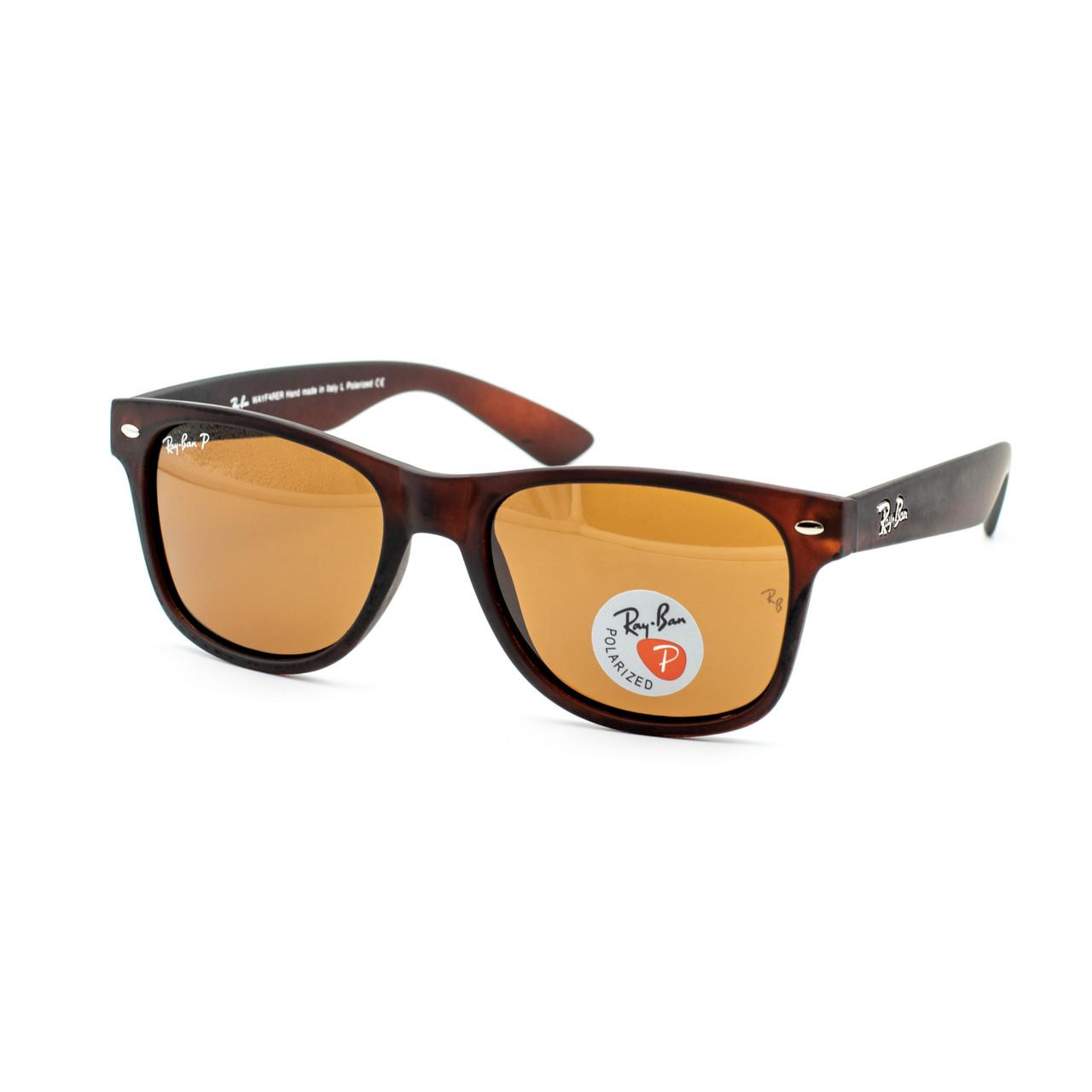 Очки Ray Ban Wayfarer brown матовые polarized (replica)