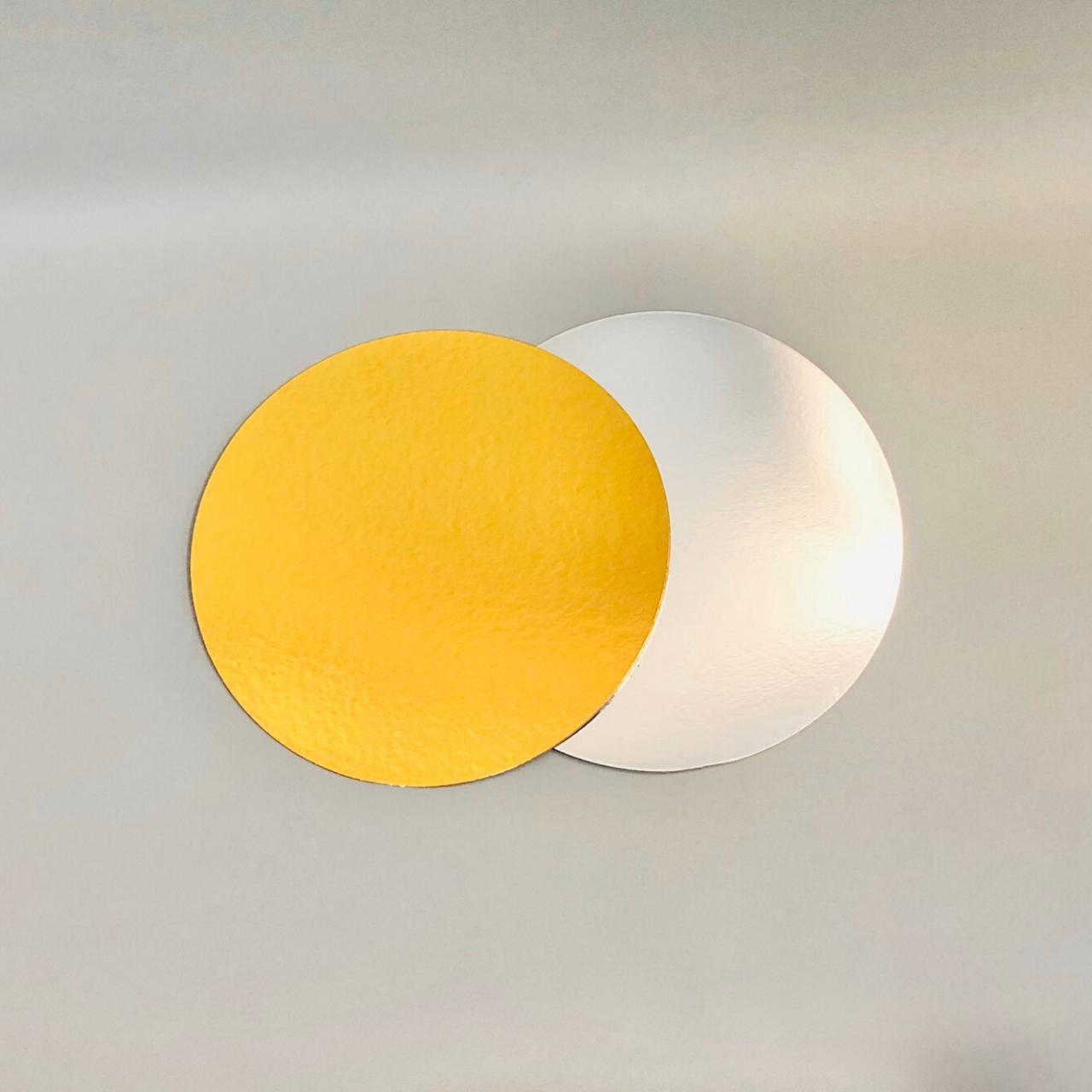 Подложка под торт ∅-120 мм, золота/срібна - 1 мм