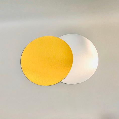 Подложка под торт ∅-120 мм, золота/срібна - 1 мм, фото 2