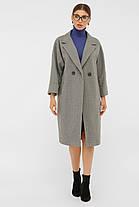 Пальто женское до колена ровное серого цвета шерстяное пальто 38, 40, 42, фото 3