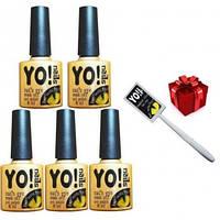 Набір з 5 гель лаків Yo!Nails Cats Eye + магніт в подарунок