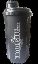 Шейкер спортивный PowerPlay черный ProteinShop 700 мл