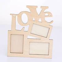 Заготовка для декора рамочка - Love