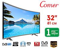 """Телевизор Comer 32"""" Smart TV, Wi-Fi, E32DU1000 Изогнутый, Оригинал, Смарт ТВ"""