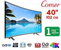 """Телевизор Comer 40"""" Smart TV, Wi-Fi, E40DU1000, Cмарт Изогнутый, Оригинал, Смарт ТВ"""