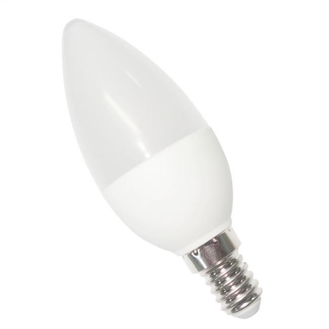 Лампа светодиодная 5 ватт Е14 C37 4100K