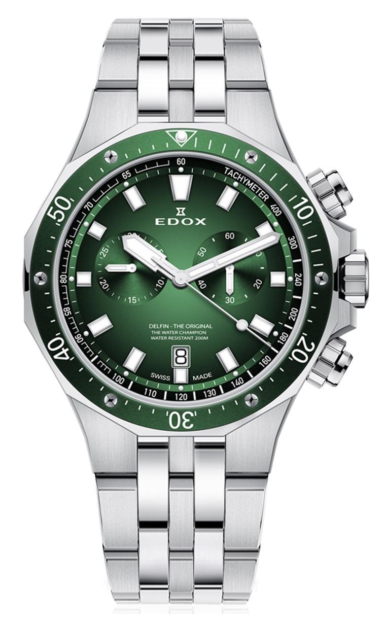 Мужские часы EDOX 10109 3VM VIN Delfin Chronograph