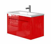 Тумба в ванную JUVENTA Tivoli Tv-80 с умывальником красная