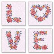 """Картина по номерам """"LOVE, flowers"""" ★★★ СН125"""