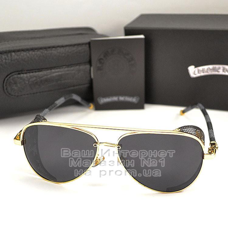 Мужские солнцезащитные очки Chrome Hearts Авиаторы со шторкой Хром Хартс 2020 Стильные Брендовые реплика
