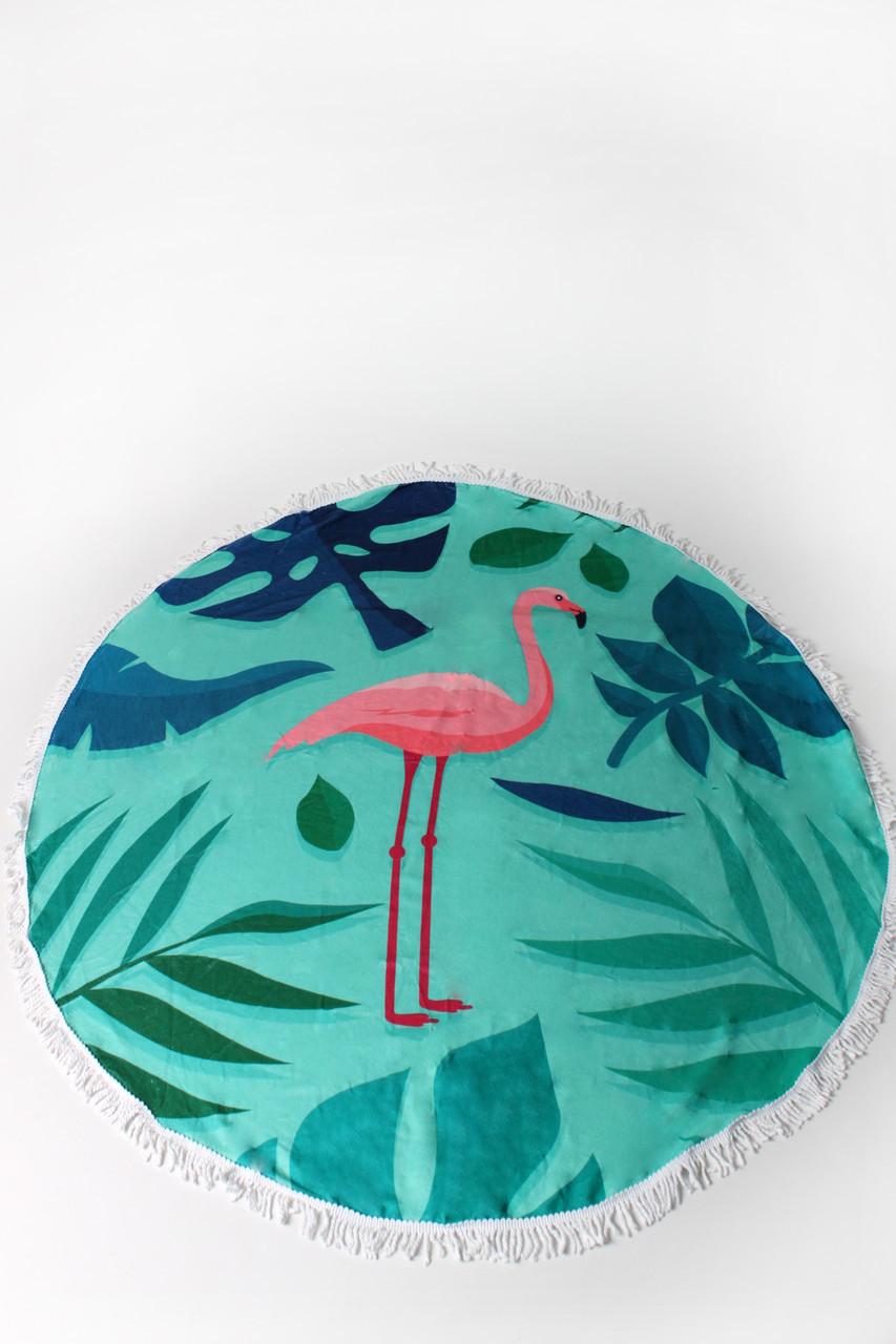 Пляжный коврик Фламинго