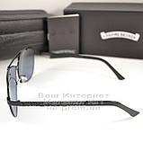 Чоловічі сонцезахисні окуляри Chrome Hearts Прямокутні Хром Хартс Модні 2020 Стильні Брендові репліка, фото 3
