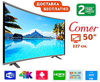 """Телевизор Comer 50"""" Smart TV, Wi-Fi, E50DU1000, Оригинал, Смарт ТВ"""