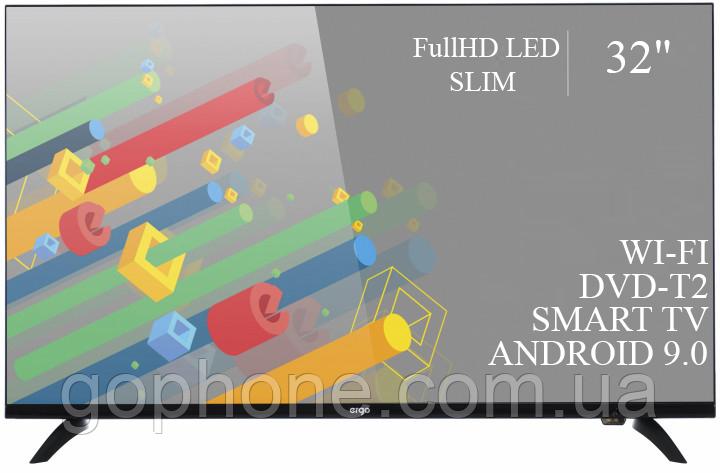 "Телевизор Ergo 32"" Smart-TV/Full HD/DVB-T2/USB (1920×1080) Android 9.0"