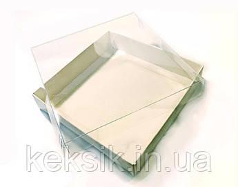 Коробка для пряників з прозорою кришкою 15*15*3