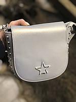 Маленька шкіряна сумка через плече з натуральної шкіри