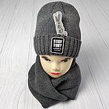 М 94027. Комплект женский-подростковый шапка и хомут, фото 5