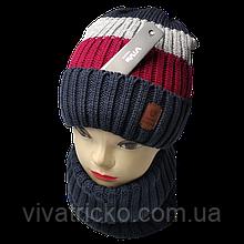 М 94019 Комплект для хлопчика шапка на флісі і снуд, різні кольори