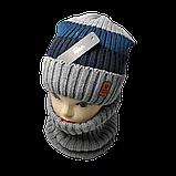 М 94019 Комплект для мальчика  шапка на флисе и снуд, разние цвета, фото 3