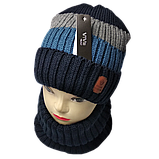 М 94019 Комплект для мальчика  шапка на флисе и снуд, разние цвета, фото 4