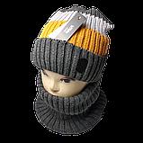 М 94019 Комплект для мальчика  шапка на флисе и снуд, разние цвета, фото 5