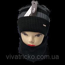М 94015 Комплект для хлопчика шапка на флісі і снуд, різні кольори
