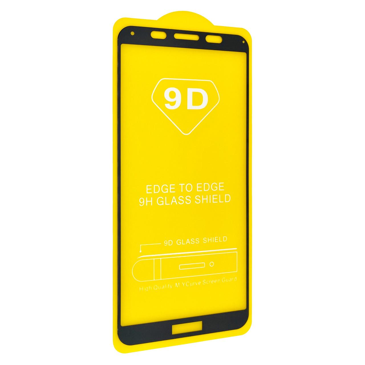 Защитное стекло DK Full Glue 9D для Huawei Y5 (2018) / Y5P (black)