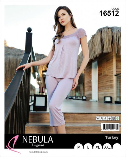 Домашній костюм жіночий футболка з капрі NEBULA 16512