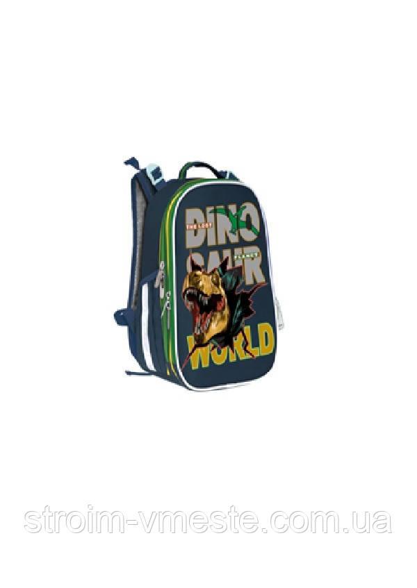 Ранец SchoolCase Mini «Dino World», 2 отд,, 35*27*16см, PL, арт 2017