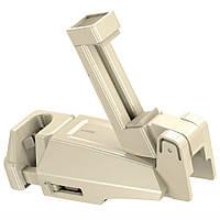 Автотримач Baseus Backseat Vehicle Phone Hook, + гачок-вішалка khaki