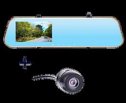 Автомобильный видеорегистратор DVR DV460 FullHD 1080p - видеорегистратор зеркало заднего вида с двумя камерами, фото 3