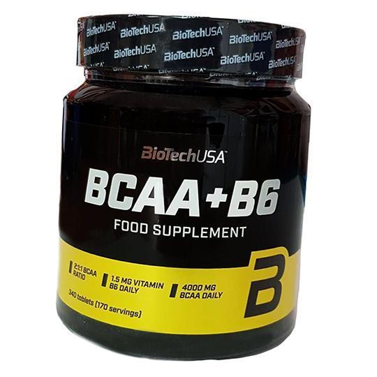 Амінокислоти BioTech USA BCAA + B6 340 tabs.
