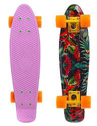 Скейт Пенни борд Penny Board Пенні  Fish Skateboards  22 Lilac - Лиловый