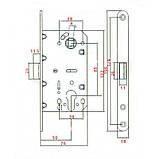 Механізм для дверей під циліндр GR 85K-EC Gavroche золото, фото 2