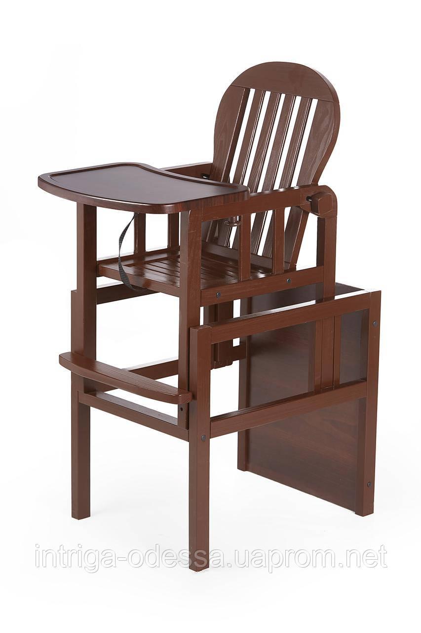 Дитячий дерев'яний стілець-трансформер для годування PAMPUH