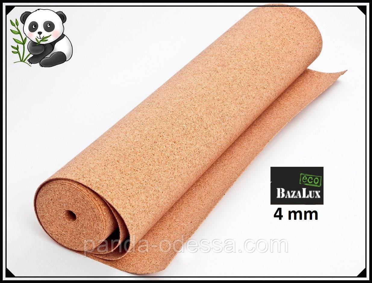 Пробковая подложка 4 мм, 1х10м, ТМ Bazalux Eco/ Коркова підкладка рулонна