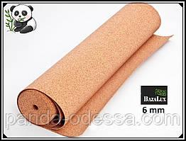 Пробкова підкладка 6 мм, 1х10м, ТМ Bazalux Eco/ Коркова підкладка рулону