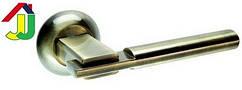 Ручка роздільна Kedr R 10.038 бронза кругла основа, ручка на розетці для міжкімнатних дверей
