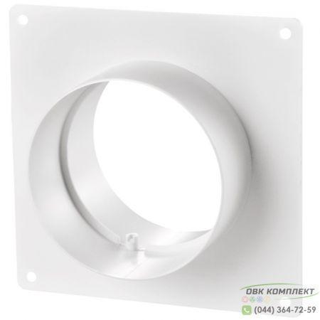 Соединитель d100 с настенной пластиной | ВЕНТС 151