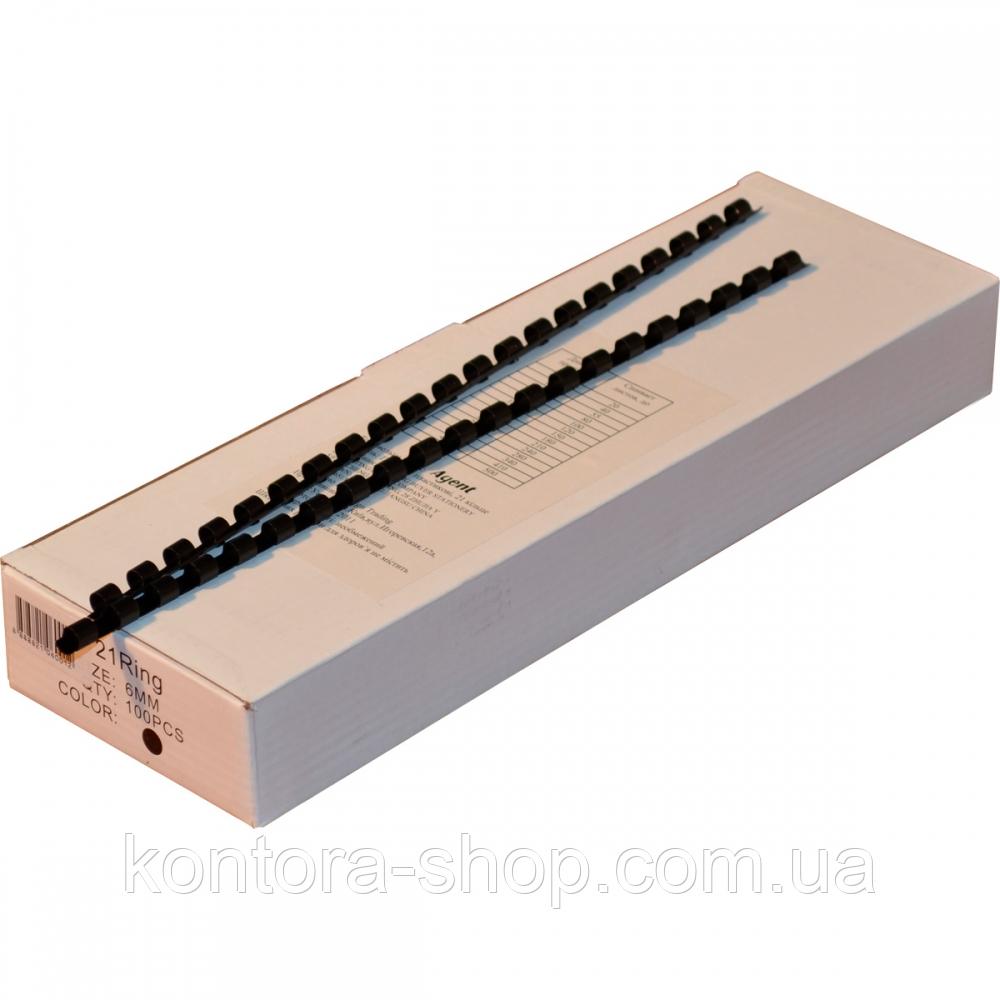 Пружины пластиковые 6 мм черные (100 штук)