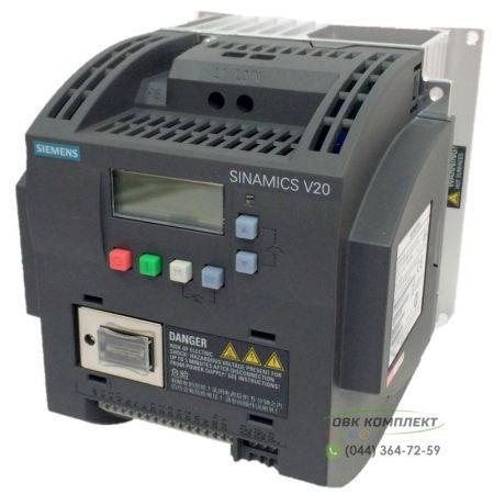 Частотный преобразователь Siemens SINAMICS V20 6SL3210-5BE15-5UV0 0,55 кВт/3 фаз.