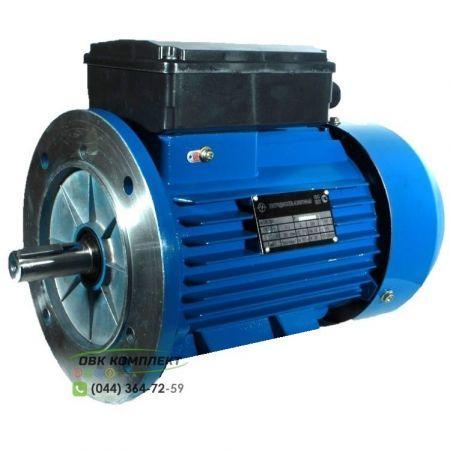 Однофазный электродвигатель АИРЕ 56 В4 (АИРЕ56В4) 0,18 кВт 1500 об/мин IM3081 (с фланцем) (+5%)
