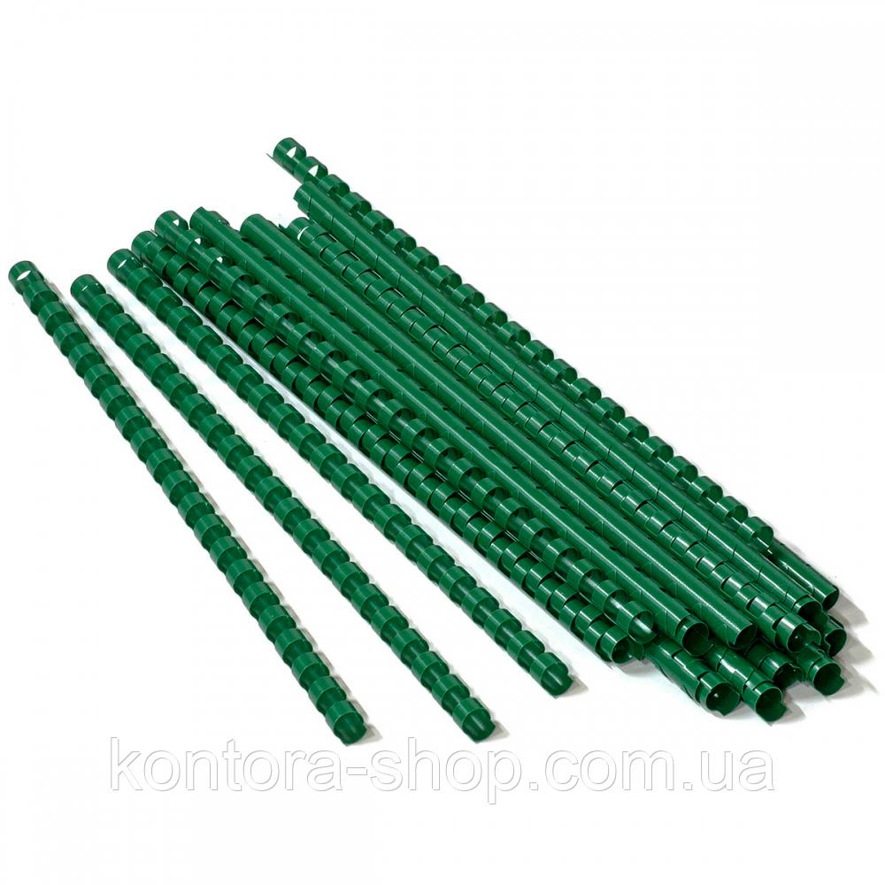 Пружины пластиковые 6 мм зеленые (100 штук)
