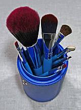 Набір кистей для макіяжу Look Like в тубусі сині