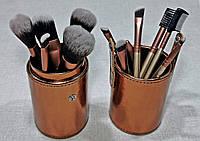 РАСПРОДАЖА!!! Кисти для макияжа Naked Gold Золотые 12 штук в Тубусе, фото 1